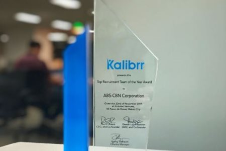 ABS-CBN NAMED AS TOP PERFORMING RECRUITMENT TEAM BY KALIBRR